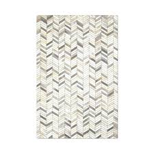 chevron cowhide rug carbon loft hand stitched grey chevron cowhide leather rug chevron cowhide rug 8x10