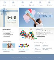 Free Downloads Web Templates Event Planner Website Template 14603