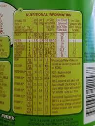 Green Mill Nutrition Chart Nestle Milo 450g