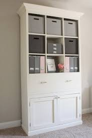 office storage unit. DIY Office Storage Cabinet Bookcase Unit