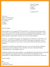 Letter Of Recommendation Template Sample College Recommendation