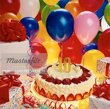 birthday cake and balloons and gifts. Unique And Birthday Cake Balloons And Gifts  Stock Photo In Cake And Masterfile