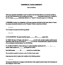 Payment Agreement Form Sample Unique Commercial Lease Agreement FREE Sample Template Business Form