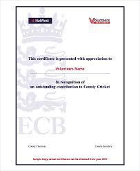 Volunteer Certificates Volunteer Certificate Template 7 Free Word Pdf Document