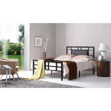 Hodedah Black Queen Upholstered Bed