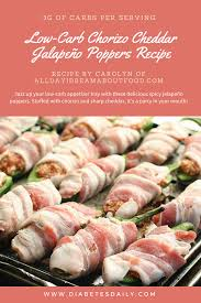 low carb chorizo cheddar jalapeño poppers recipe you can officially call me a jalapeño popper devotee now i bow before the brilliance of stuffed jalapeños wrapped in bacon