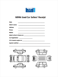 Used Car Sale Receipt For Sales Form Template Format India