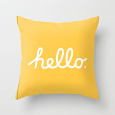 Image Accent Pillows Hello The Macintosh Office yellow Throw Pillow Society6 Hello The Macintosh Office yellow Throw Pillow By Rhett Society6