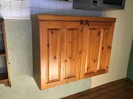Pine Kitchen Cupboard Doors Ex Mfi Country Pine Kitchen Units Inc Fridge Freezer Carousel