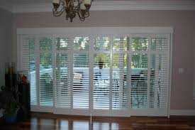 12 photos gallery of plantation shutters for sliding glass doors ideas