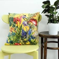 Small Picture Botanical Design Floral Sofa Cushions Tropical Style by Gillian