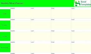 Excel Weekly Meal Planner Meal Plan Template Luxury Weekly Dinner Planner E Planning Recipe