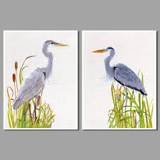 chinese style landscape flowers decoration heron birds wall art pictures canvas painting for living room home on heron canvas wall art with chinese style landscape flowers decoration heron birds wall art