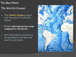 ocean by size earth science 14 1 the vast world ocean ppt download