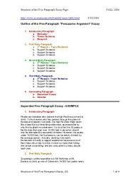 the paragraph narrative essay outline act esl outline of the five paragraph essay