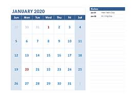Printable Calendars 2020 With Holidays 2020 Calendar Templates Download Printable Templates With