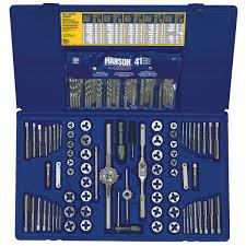 Tap And Die Set Chart 117 Pc Deluxe Combo Set Taps Dies Hss Drills Extractors