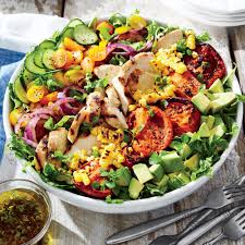 Light And Refreshing Dinner Ideas Grilled Chicken And Vegetable Summer Salad Recipe