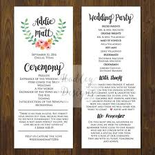 Free Microsoft Word Wedding Program Template Marriage Program Template Soulective Co
