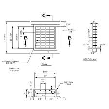 Vending Machine Cad Block Plan Impressive Catch Basin CAD Detail Drawing Cablocksfree CAD Blocks Free