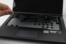 turn over the laptop lift up the keyboard a little bit disconnect the keyboard cable you can remove the keyboard