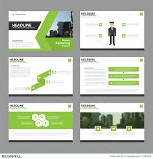 presentation template designs green vector annual report leaflet brochure flyer template design