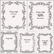 Винтажные узорные рамки для оформления дипломов и сертификатов  Винтажные стильные рамки Вектор