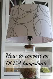 making an ikea lampshade fit a normal lamp