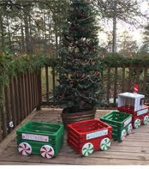 little christmas crate train