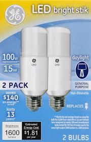 Ge Lighting 9w Bright Stik Soft White Led Bulb Ge Led 63869 Brightstik 15 Watts 1600 Lumens And 50 Similar