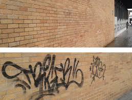 how to remove graffiti from brick