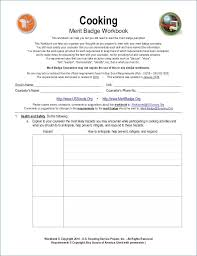 Cooking Merit Badge Cooking Merit Badge Worksheet Answers