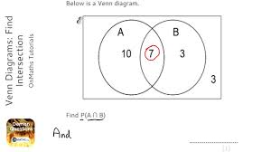 Venn Diagram Intersection Venn Diagrams Find Intersection Grade 5 Onmaths Gcse Maths
