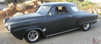 tubbed flat black paint 1950 studebaker champion starlight coupe