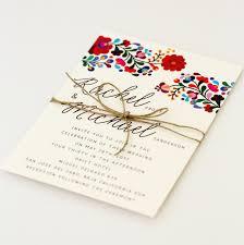 Floral Destination Wedding Invitations Colorful Mexican Mexican Wedding Invitations