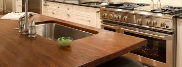 wood countertops with undermount sinks gallery