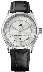 men s tommy hilfiger leather strap watch 1710331 loading zoom