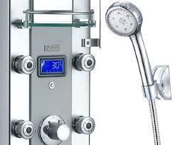 akdy shower panel led aluminum shower panel rain style system with 3 colors led akdy shower akdy shower panel