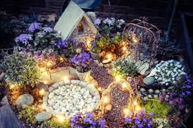 fairy garden diy ideas with fairy lights