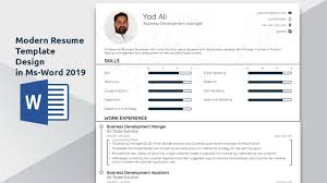 How To Create A Modern Resume In Word How To Create An Awesome Modern Resume Template In Ms Word 2016