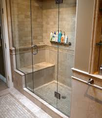 shower stalls with seats. Tiled Shower Enclosures With Seat | Marble Inlay Tile Floor And Walls Coordinating Slab . Stalls Seats