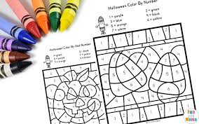There are a range of worksheets we have created with a we hope you enjoy our series of halloween color by number worksheets. Halloween Color By Number Fun With Mama