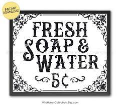 fresh soap water printable bathroom