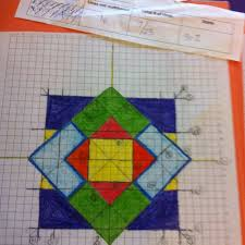 students create pictures for the unit on linear equations there were certain