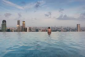 infinity pool united states. Tourists At Infinity Pool Of Marina Bay By Panoramic Images United States