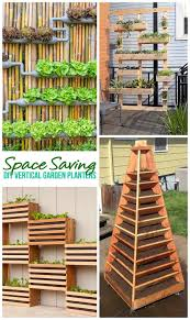 space saving diy tutorials to create pretty and functional vertical garden planters outdoor diy projects