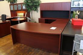 u shaped desk office depot. Fetching U Shaped Desk Plus Warren Series American Cherry New Laminate Executive Office Depot To Inspire Your Home Decoration Idea Realspace Broadstreet A