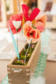 Wedding Paper Flower Centerpieces Wedding With Diy Paper Flower Centerpieces