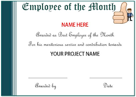 Printable Employee Of The Month Certificates 20 Free Certificates Of Appreciation For Employees