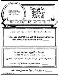 Descartes Rule Of Signs Doodle Graphic Organizer